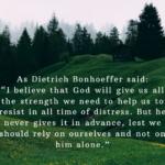 Dietrich Bonhoeffer Ute letter Twitter